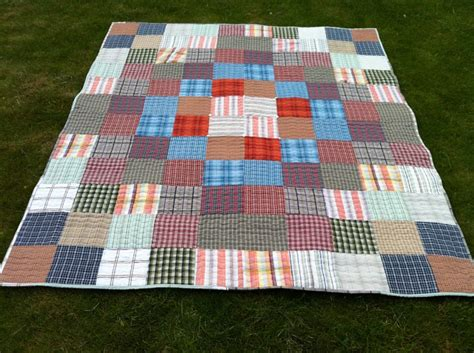 quilt made from rohan shirts sewing projects
