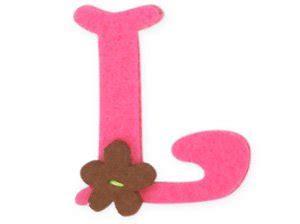 L Images by Pink Felt Alphabet Letters Iron On 25mm Motif
