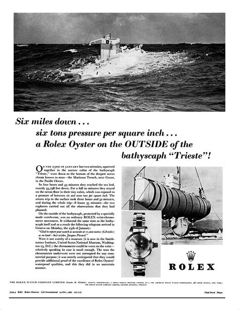 rolex ads 2016 rare watches voyage to the bottom of the sea part 1