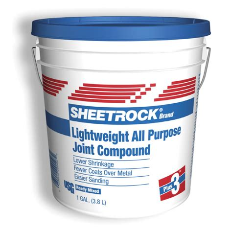 Bathroom Drywall Joint Compound Shop Sheetrock Brand Plus 3 1 Gallon Premixed Lightweight