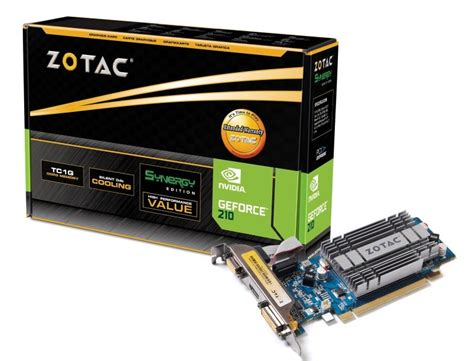 Zotac Graphics Cards geforce 174 210 synergy edition zotac