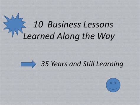 Lessons Learned About Businesses by Business Lessons Learned