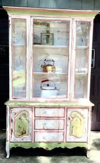 country china cabinet country painted hutch china cabinet painted vintage