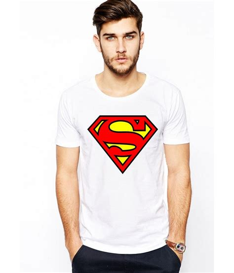 Tshirt Supermen White ilyk superman white printed t shirt