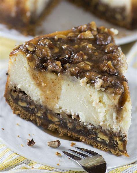 pecan pie cheesecake chocolate dessert recipes omg
