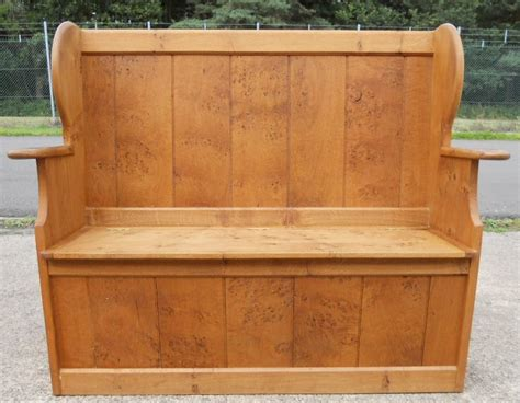 hall seat storage bench pine hall settle bench storage seat