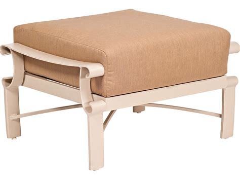Woodard Bungalow Cushion Aluminum Ottoman   8Q0486