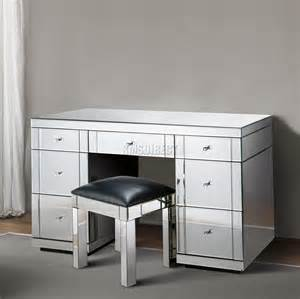 Mirror Dressing Table With Drawers by Foxhunter Mirrored Furniture Glass Dressing Table With