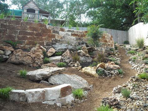 rock landscape design triyae river rock in backyard various design inspiration for backyard