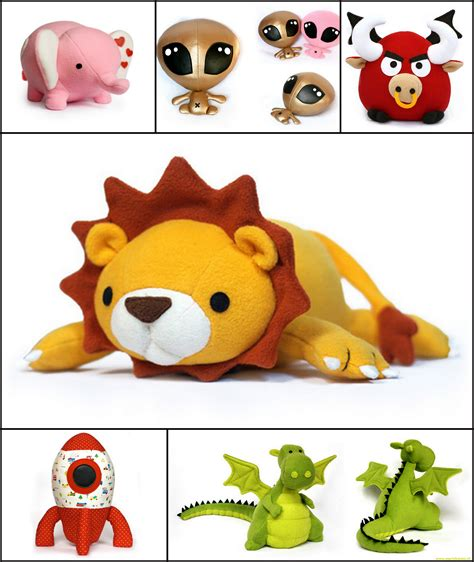 Handmade Soft Toys Free Patterns - spotlight feature diy fluffies soft patterns by