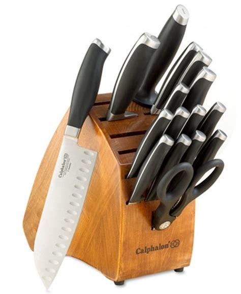 modern kitchen knives calphalon contemporary 17 cutlery set cutlery knives kitchen macy s