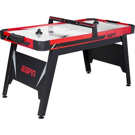espn air hockey table espn 60 inch air powered hockey table with overhead