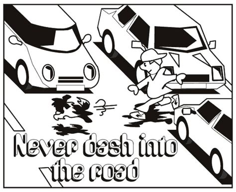 road safety for children coloring pages
