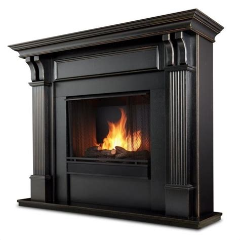 Finish Fireplace by Real Gel Fireplace In Blackwash Finish 7100 Bw