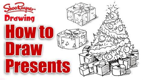 how to draw christmas presents youtube