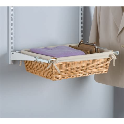 shop rubbermaid homefree series maple wicker sliding