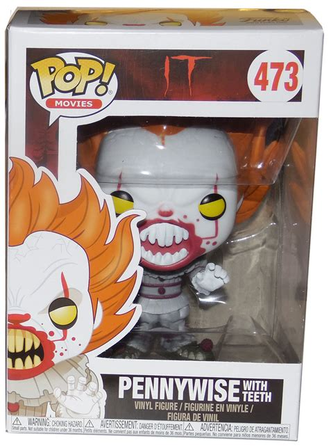 Funko Pop It Pennywise With Teeth Exclusive 473 funko pop it 473 pennywise with teeth new mint