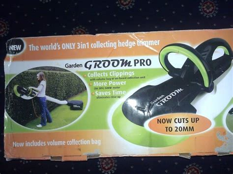 garden groom pro collecting hedge trimmer for sale in
