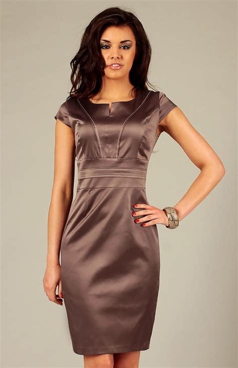 robe de cocktail brown sheath dress tamara vf tam m idresstocode