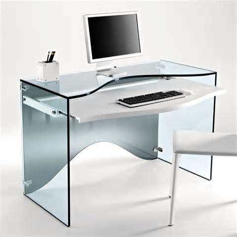 Small Glass Home Office Desk Small Glass Desk Rooms