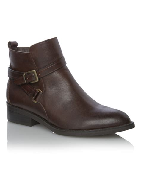sainsburys shoes womens brown leather equestrian ankle boots tu clothing