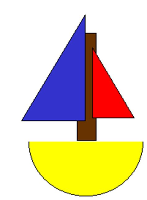 sailboat template for preschool image halves boat preschool craft