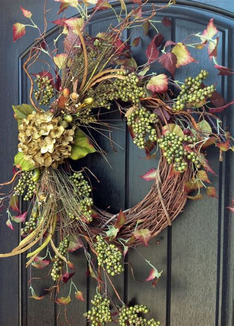 grapevine floral design home decor the fall wreath autumn wreath berry twig holiday wreath