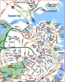Boston Freedom Trail Map by Gallery For Gt Boston Freedom Trail