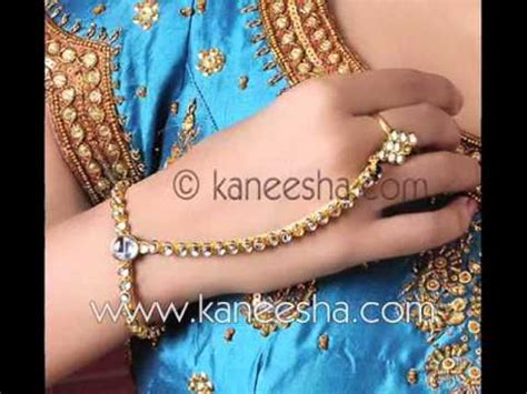 Finger Ring Bracelet Fashion 2011, Designer Indian Ring   YouTube