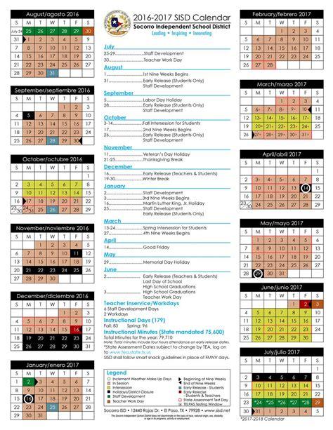 2016 17 Calendar Printable yisd calendar calendar 2017 printable