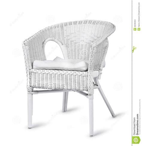 sedia vimini sedia di vimini isolata fotografia stock immagine
