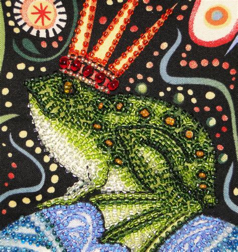 the beaded frog the beaded pillow a beaded frog prince wip