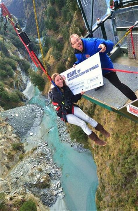 canyon swing queenstown accident shotover canyon swing shows its community heart with