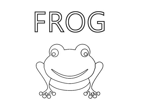 frog outline template free coloring pages of frog outline