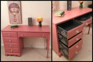 Desk Painting Ideas Shabby Chic Pink Desk Provincial Desk Black And Silver Stenciled Drawers By Furniture
