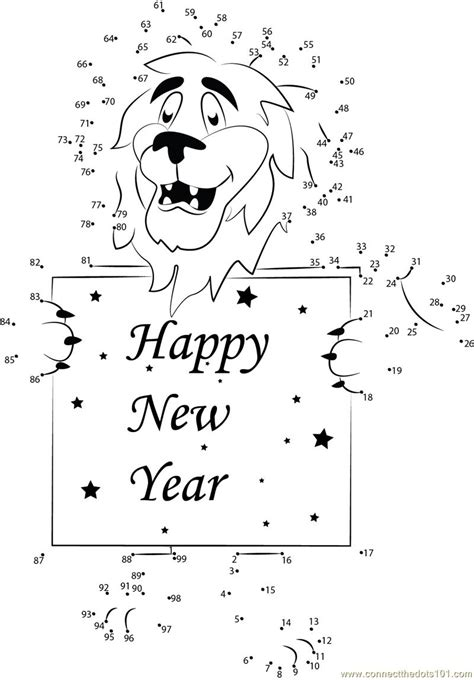 new year join the dots happy new year dot to dot printable worksheet