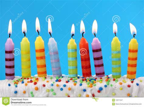 candele di compleanno nove candele di compleanno fotografia stock libera da