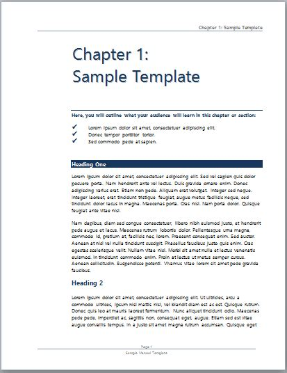guide template sle user manual microsoft word templates