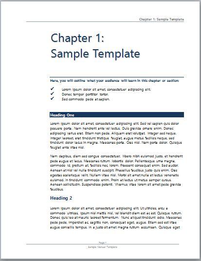 Sample User Manual   Microsoft Word Templates