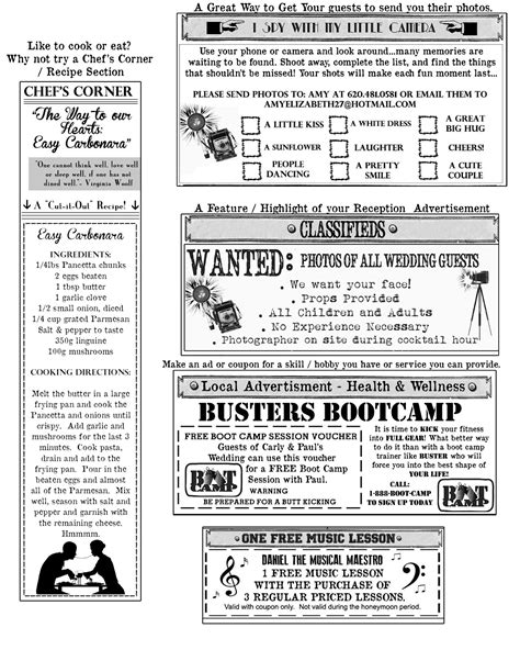 Wedding Newspaper Template by The Day Of The Rest Of My With You Custom Ideas For Your Mini Newspaper Program