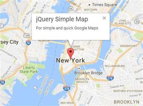 easy maps and directions show nearby places using jquery and maps