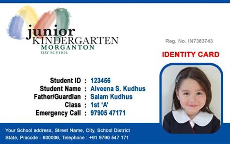government id card template beautiful student id card templates desin and sle word