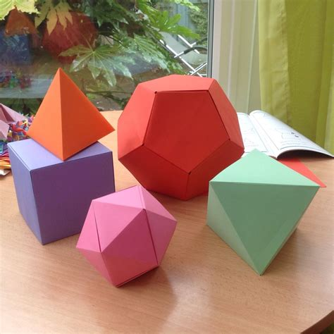 Origami Platonic Solids - origami gallery artful maths