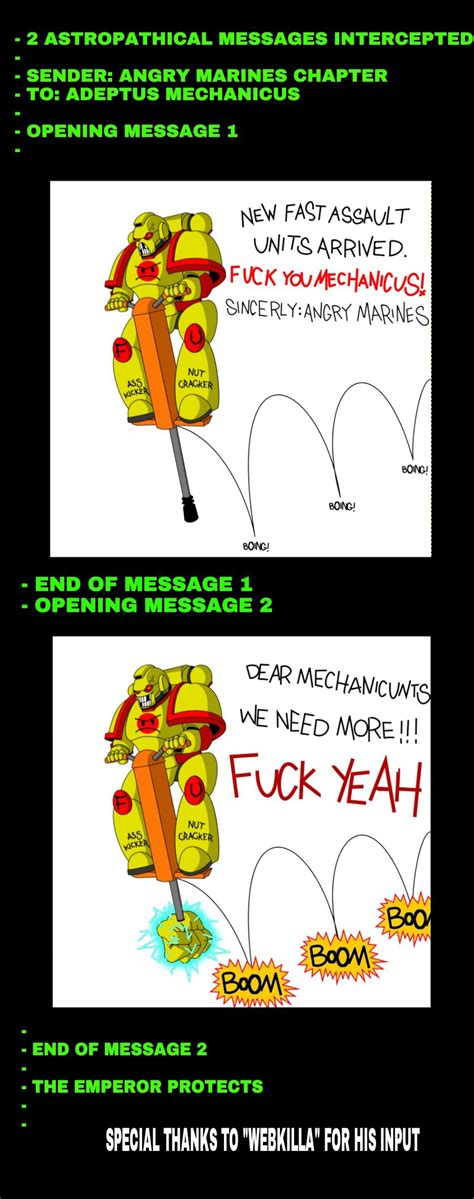 Angry Marines Meme - angry marines new equipment ministrip by empyronaut on