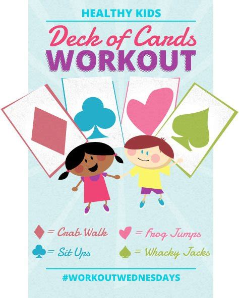 printable deck of cards workout invitation exercise choice image invitation sle and