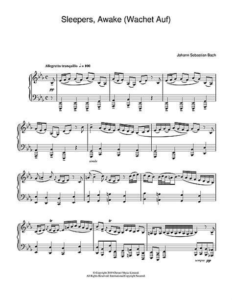 Sleepers Awake Bach Piano by Sleepers Awake Wachet Auf Sheet By J S Bach Piano 24441
