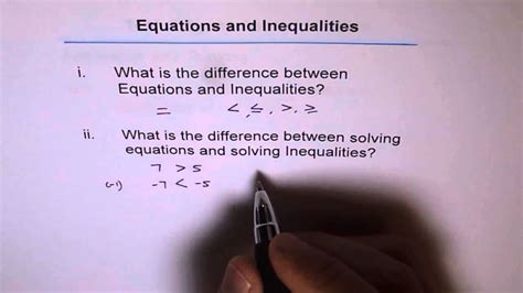 What Is The Difference Between A And A Sofa by Difference Between Equation And Inequalities