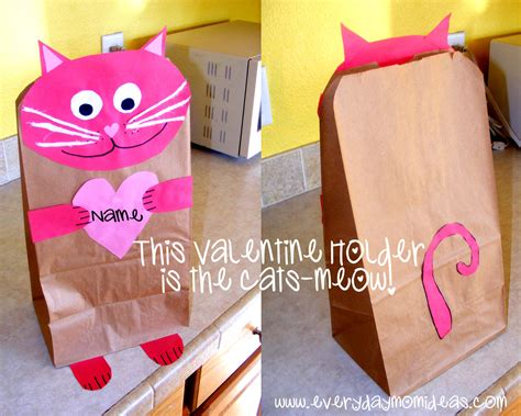 Valentines Paper Crafts - one purrrrrrrr fect holder craft everyday