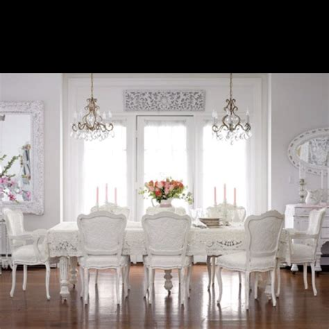 all white dining room architecture and interiors