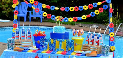 Pool Design Beach Themed Boys Birthday Party Gorgeous Plan For Boys